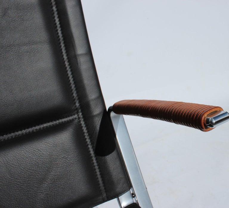 Scandinavian Modern Easy Chair, Model FK82, X-Chair, by Preben Fabricius and Jørgen Kastholm For Sale