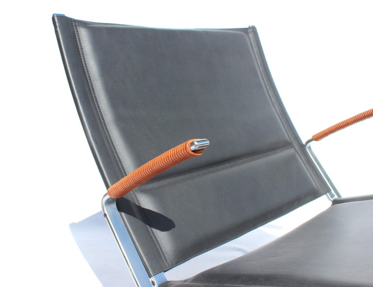 Danish Easy Chair, Model FK82, X-Chair, by Preben Fabricius and Jørgen Kastholm For Sale