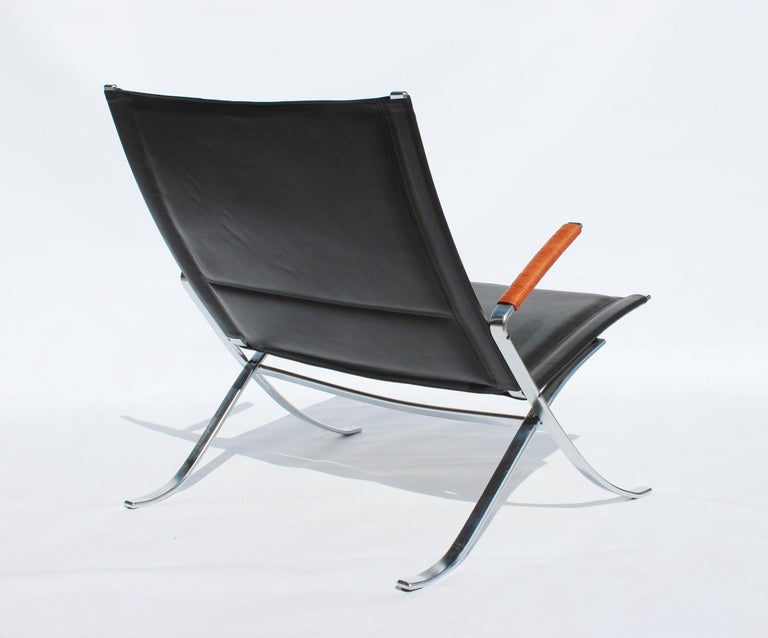 Easy Chair, Model FK82, X-Chair, by Preben Fabricius and Jørgen Kastholm In Good Condition For Sale In Lejre, DK