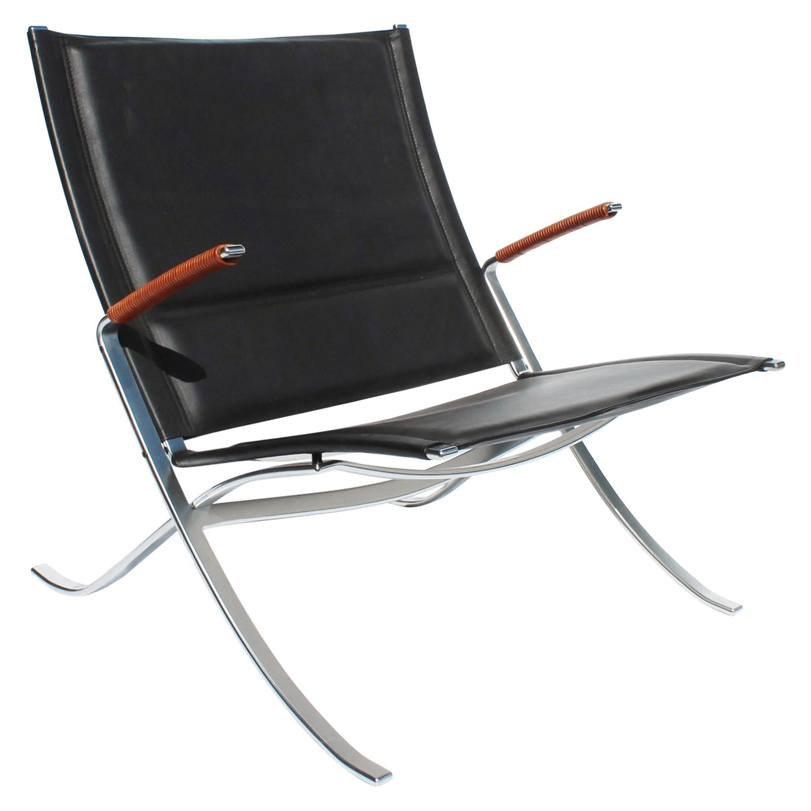 Easy Chair, Model FK82, X-Chair, by Preben Fabricius and Jørgen Kastholm