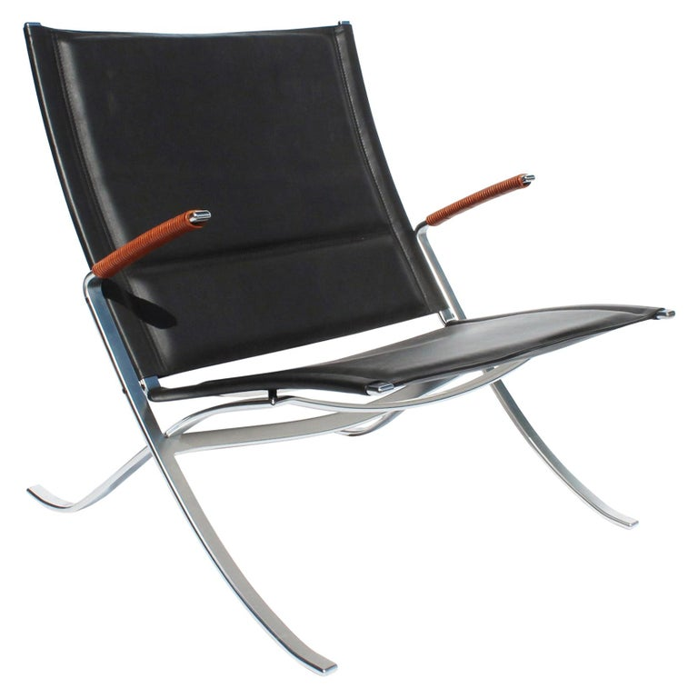 Easy Chair, Model FK82, X-Chair, by Preben Fabricius and Jørgen Kastholm For Sale