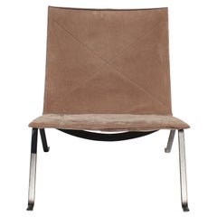 Easy Chair, Model PK22, of Suede by Poul Kjærholm and Fritz Hansen