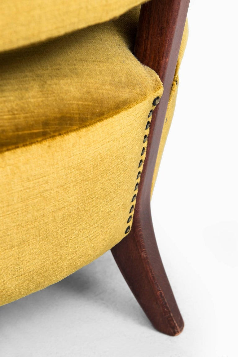 Mid-20th Century Easy Chair Model Schulz Designed by Otto Schulz Produced by Boet in Sweden For Sale