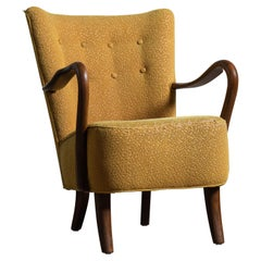 Easy Chair with Open Armrests by Alfred Christensen, Denmark, 1940's