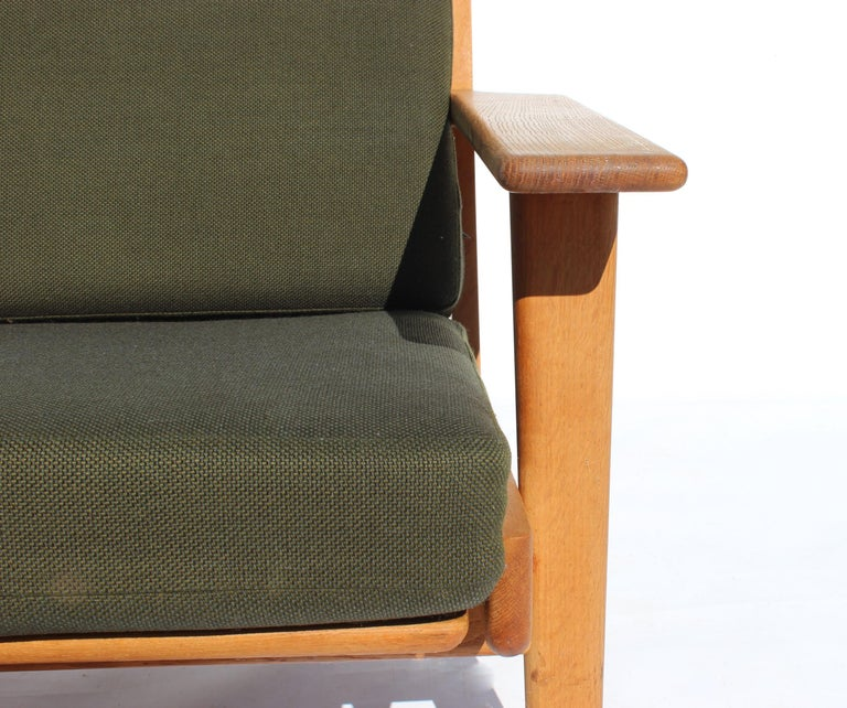 Scandinavian Modern Easy Chair with Tall Back, Model GE290A, by Hans J. Wegner and GETAMA For Sale