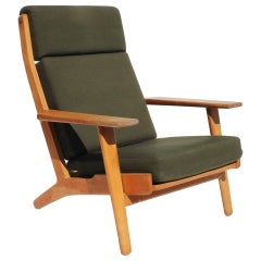 Easy Chair with Tall Back, Model GE290A, by Hans J. Wegner and GETAMA