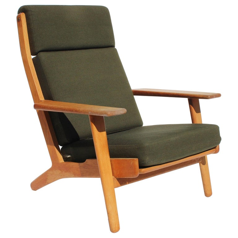 Easy Chair with Tall Back, Model GE290A, by Hans J. Wegner and GETAMA For Sale