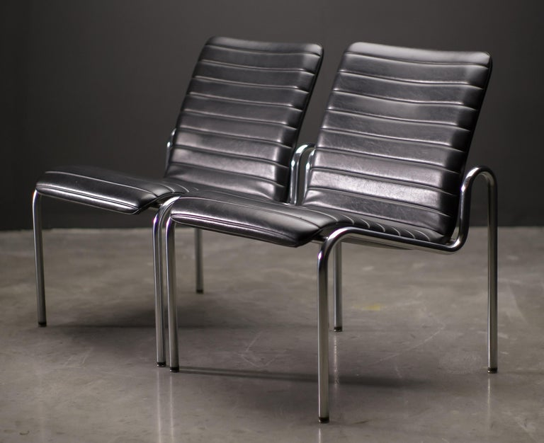 Naugahyde Easy Chairs 703 by Kho Liang Ie For Sale