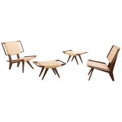 Easy Chairs and Ottomans by Paul László for Glenn of California, 1950s