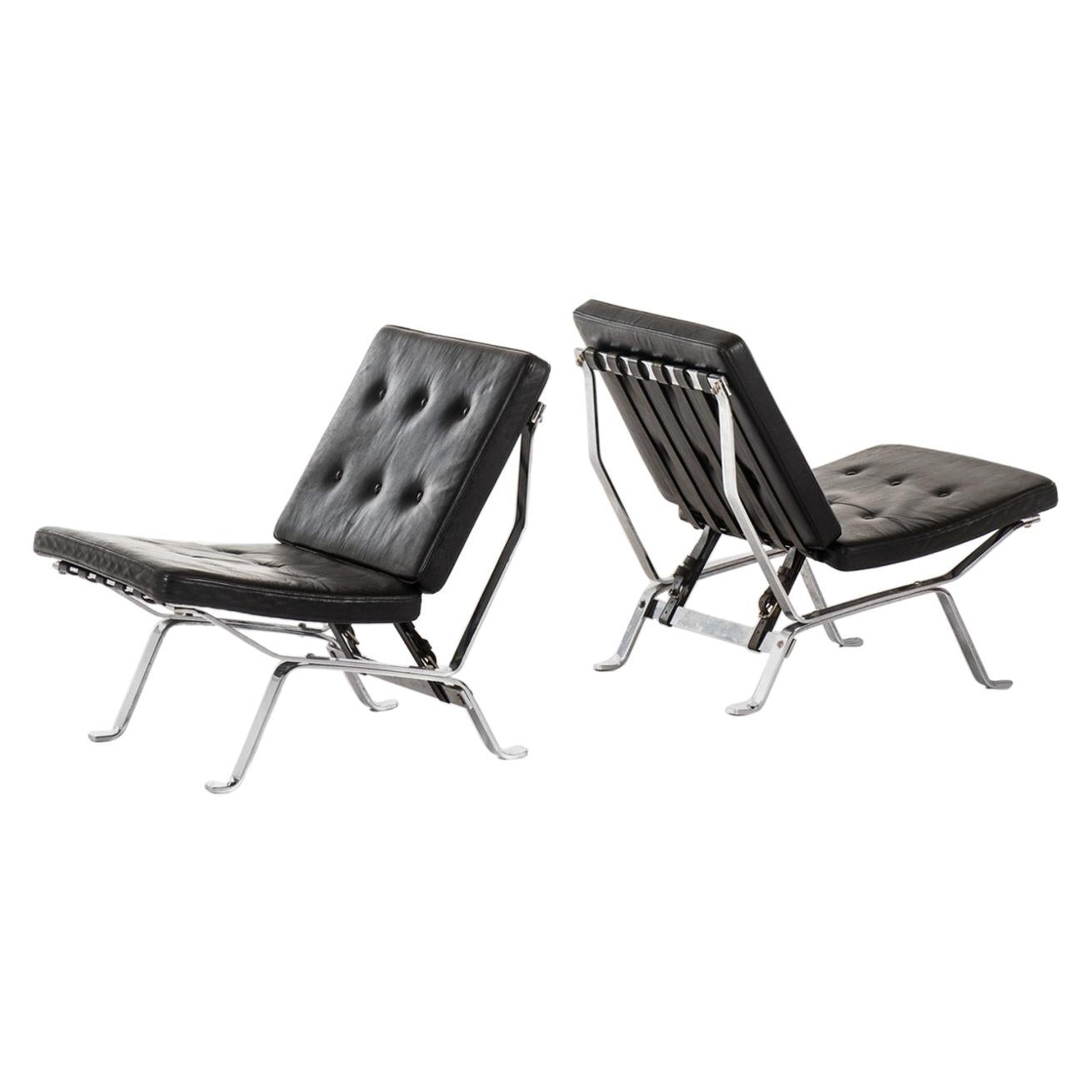 Easy Chairs Attributed to Olivier Mourgue Produced by Airborne in France