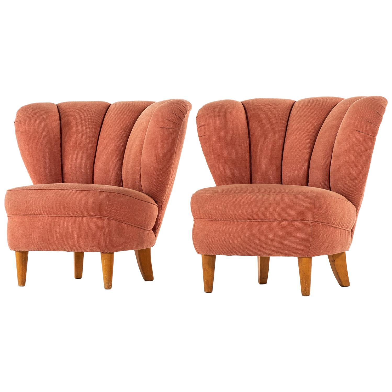 Easy Chairs in the Manner of Otto Schulz Produced in Sweden