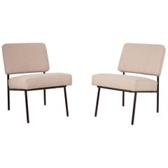 Easy Chairs, Lounge Chair in the Style of Pierre Guariche, 1950s, Set of 2