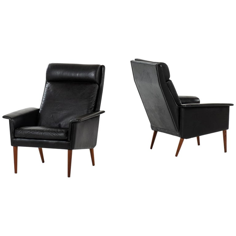 Easy Chairs Produced in Denmark For Sale