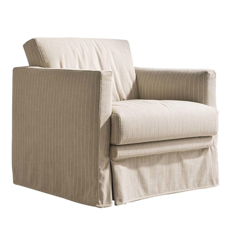 Easy Ivory Armchair For Sale