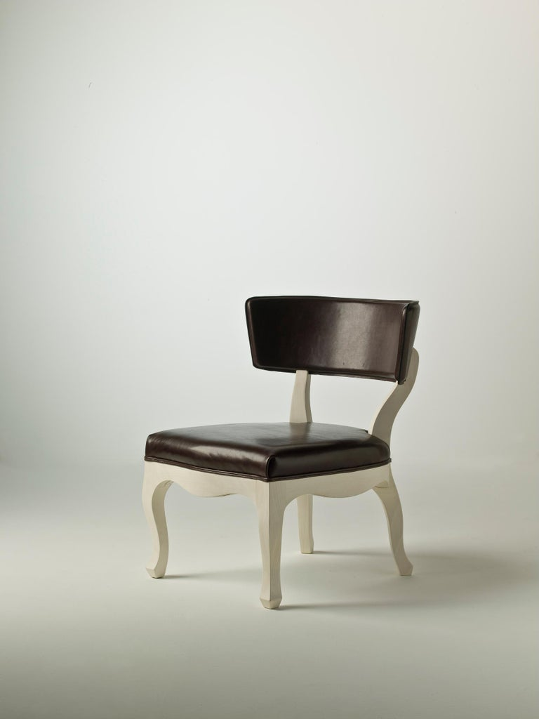 Modern Easy Low Armchair in Fabric For Sale