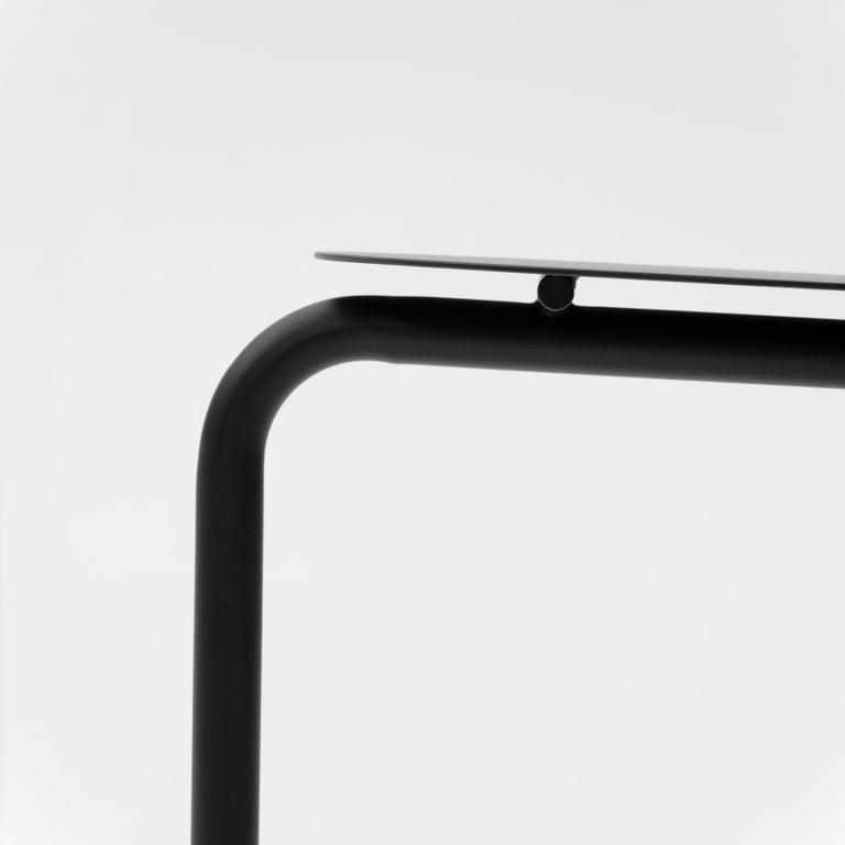 Contemporary EATER, modern steel black dining Chair 'without Cushion' by oitoproducts For Sale