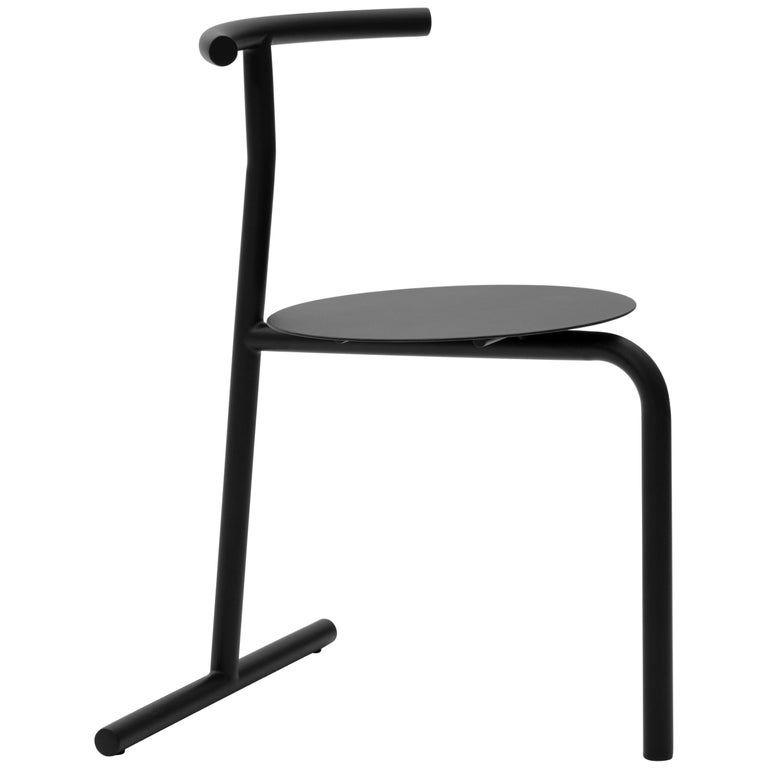 EATER, modern steel black dining Chair 'without Cushion' by oitoproducts For Sale