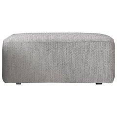 "Eave Modular, Pouf, Kvadrat's ""Steelcut 2"" #160 Fabric 'Grey'"