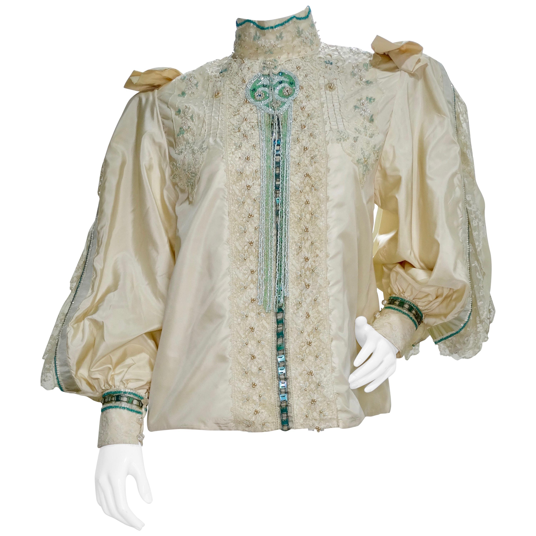 Eavis & Brown Embellished Victorian Blouse