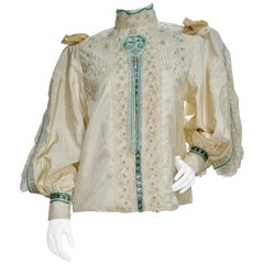 Eavis & Brown Embellished Victorian Blouse