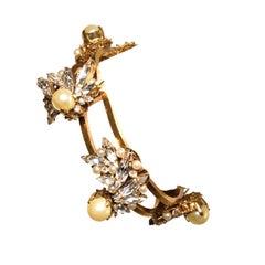 EB Crystal and Pearl Orbit Bracelet