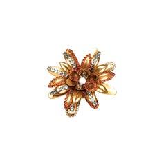 EB Gold Fall Flower Brooch