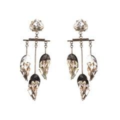 EB Metal Feathers in the Wind Dangle Earrings