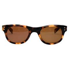 E.B. Meyrowitz Brown Tortoise Shell Sunglasses