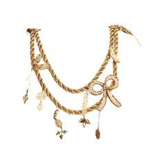 EB Rope Chain Pearl and Crystal Necklace