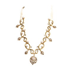 EB Sweetheart Galaxy Velvet Tie Necklace