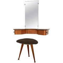 EB05 Wall Mount Dressing Table with Tripod Stool by Cees Braakman for Pastoe