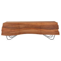 Ebb & Flow Modern Organic Credenza Made from River Rescued Ancient Wood
