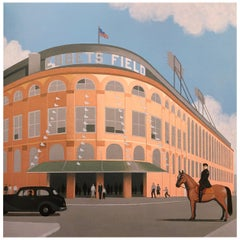 Ebbets Field, Original Painting by Lynn Curlee