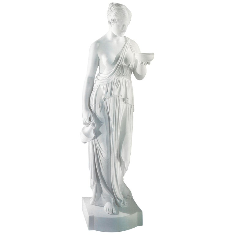 Ebe Statue in Acquabianca Marble by Kreoo For Sale