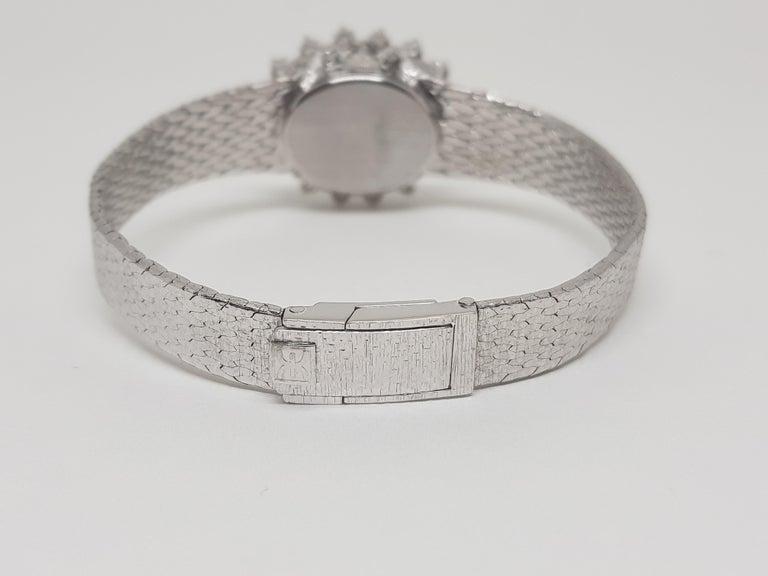 Ebel 18 Karat White Gold Diamond Vintage Ladies Watch For Sale 1