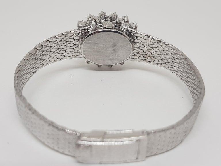 Ebel 18 Karat White Gold Diamond Vintage Ladies Watch For Sale 2