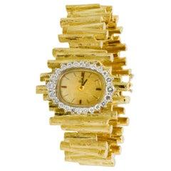 Ebel 18 Karat Yellow Gold and Diamond Twig Bracelet