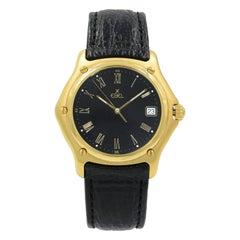 Ebel 1911 8187916 18 Karat Yellow Gold Black Roman Dial Quartz Unisex Watch