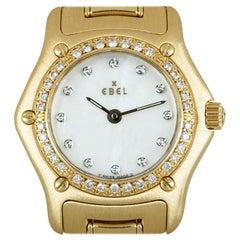 Ebel 1911 Ladies 18 Karat Gold White Mother of Pearl Dial Diamond Set 8157114