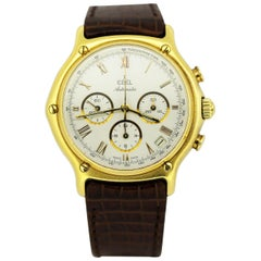 Ebel 1911 Men's Chronograph Watch in 18 Karat Gold, circa 1990s