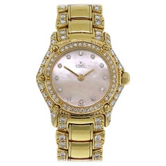 Ebel 1911 Mother of Pearl Diamond Dial 18 Karat Watch in Stock