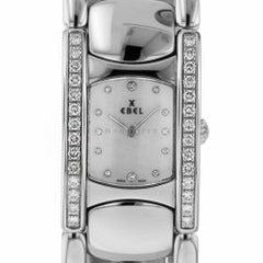 Ebel 9057A28 Beluga Manchette Mother of Pearl Diamonds Stainless Steel Quartz