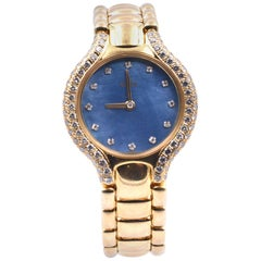 Ebel Beluga 18 Karat Yellow Gold Quartz Diamond Ladies Watch Ref. 866969