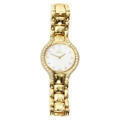 Ebel Beluga 18 Karat Yellow Gold Quartz Watch with Diamond Bezel