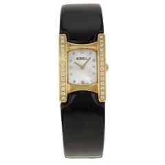 Ebel Beluga 18K Yellow Gold Diamonds White MOP Dial Quartz Ladies Watch 8057A21