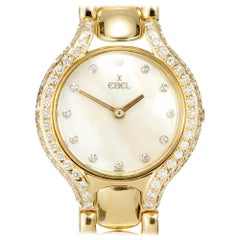 Ebel Beluga Diamond Yellow Gold Ladies Wristwatch