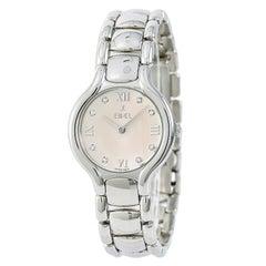 Ebel Beluga E9157421 Womens Quartz Watch Silver Dial Stainless Steel
