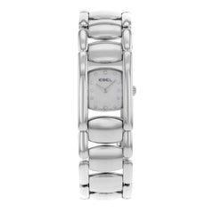 Ebel Beluga Manchette White Dial Stainless Steel Quartz Ladies Watch 9057A21