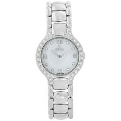 Ebel Beluga Mother of Pearl Diamond Dial Steel Ladies Watch 9157428-20