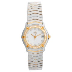 Ebel Beluga Stainless Steel and Diamond Wave Ladies Watch